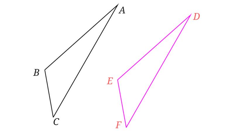 合同な三角形2つ