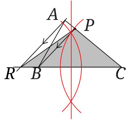 等積変形で三角形を二等分に