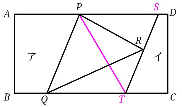 等積変形を使って境界線をまっすぐに