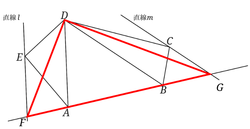 等積変形で五角形を三角形に