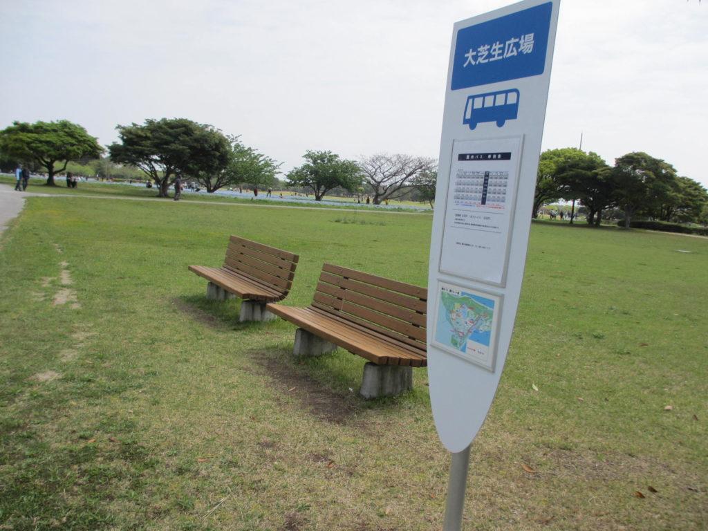 大芝生広場バス停